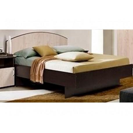Кровать Любава 3 (дуб молочный /венге)