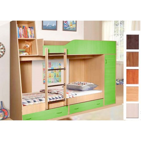 Двухъярусная кровать со шкафом  Крепыш 2